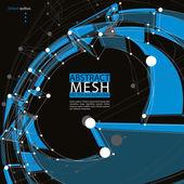 Abstrakt 3d mesh Vektor Hintergrund, abstrakte konzeptuelle Illu — Stockvektor