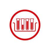 Test tubes vector icon. — Stock Vector