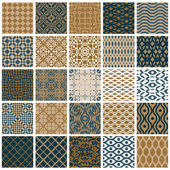 Vintage tiles seamless patterns. — Stock Vector