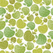 Organic food theme seamless background, Apples seamless pattern, — Stock Vector