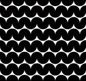 Black and white abstract seamless pattern, contrast wavy regular — Stock Vector