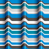 Padrão sem emenda de ondas azul 3d. — Vetor de Stock