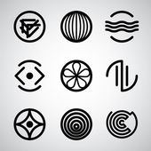 Abstract symbols set 3. — Stock Vector