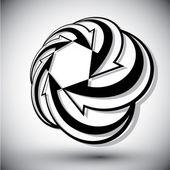 無限ループの矢印ベクトル グラフィック デザイン temp 抽象記号 — ストックベクタ
