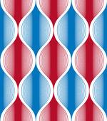 Sin patrón líneas de onda, fondo abstracto geométrico, vect — Vector de stock