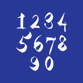 Scribble handwritten numbers, vector fresh brushed figures. — Stockvector
