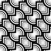 Seamless geometric pattern, simple vector black and white stripe — Stock Vector