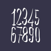 Contemporary handwritten vector digits, vector numerals. — Stok Vektör