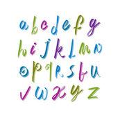 Calligraphic script font, vector alphabet letters. — Stock Vector