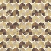 Ornamental worn textile geometric seamless pattern, vector abstr — Vector de stock