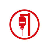 Blood transfusion vector icon isolated. — Stock Vector