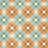 Vintage decorative seamless pattern, geometric abstract backgrou — Stock Vector