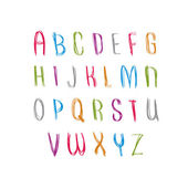 Hand written fresh vector font, stylish drawn alphabet letters s — Stock vektor