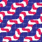 Ornate mosaic seamless pattern, geometric vector background. — Vector de stock