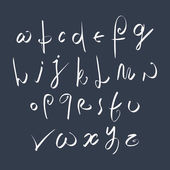 Hand written fresh vector font, stylish drawn alphabet letters s — Stock Vector