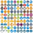 100 car and transport icons. — Stock Vector #51674637