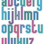 ������, ������: Retro stripe geometric font