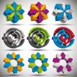 Set of modern style 3d abstract icons. — Stock Vector #51676791