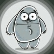 Funny confused cartoon monster. — Stock Vector