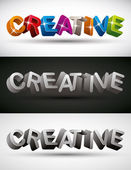 Creative word made with 3d letters, vector set. — Stock Vector