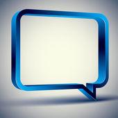 3d rectangular rounded empty speech bubble, vector background. — Stock Vector