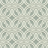 Seamless vintage style circles and waves netting pattern with gr — Stock Vector