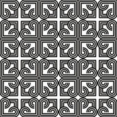 Vintage tiles seamless pattern, monochrome vector background. — Stock Vector