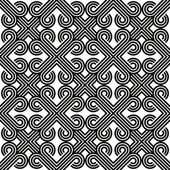 Abstract lines black and white seamless pattern, vector backgrou — Stock Vector