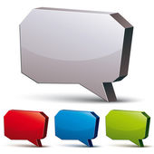 3d speech bubble isolated on white background, vector background — Stock Vector