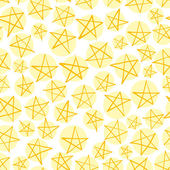 Stars seamless pattern, vector background. — Stock Vector