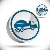 Vrachtwagen vector 3d-pictogram. — Stockvector