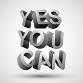 Yes you can. — Stock Vector