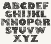 Ručně tažené a načrtnuté tučné písmo. — Stock vektor