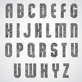 Geometric shape bold poster letters font. — Stock Vector