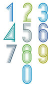 Inner Echo lined numbers vector set. — Stock Vector