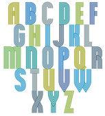 Retro style stripe trendy font. — Stockvektor