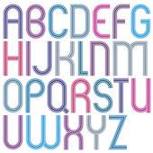 Retro style stripe trendy elegant font. — Stock Vector