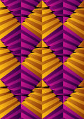 3D abstract pyramids seamless pattern, geometric vector backgrou — Stockvektor