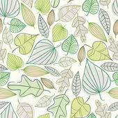 Beautiful spring leaves seamless pattern. — Stock Vector