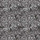 Monochrome floral seamless pattern. — Stock Vector