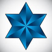 Six point star symbol. — Stock Vector