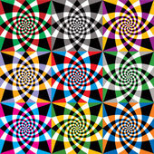 Spiral colorful whirls seamless pattern, vector design. — Stock Vector