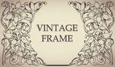 Vintage frame, vector background. — 图库矢量图片