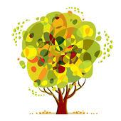 Bright color tree. — Stockvector
