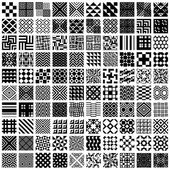 100 geometric seamless patterns set. — Stock Vector