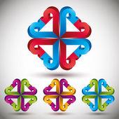 3d arrow abstract icon. — Stock Vector