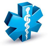 Emergency ambulance medicine symbol. — Stock Vector