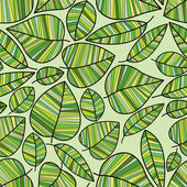 Spring leaves seamless pattern. — Stock Vector