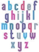Retro style triple stripes font. — Stock Vector