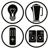Household appliances icons set 2. — Stock Vector